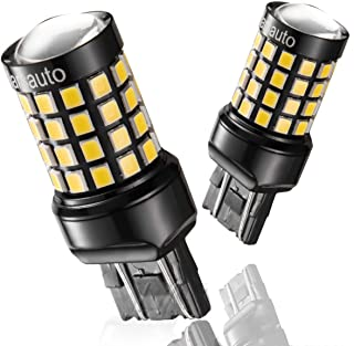 Marsauto  7443 7440 T20 LED Reverse Backup Bulb Extremely Bright 52 SMD 3030 2835 Chipsets Back up Stop Tail Light Lamp Bulbs Replacement Set of 2
