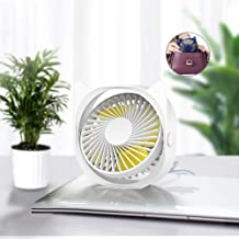 YXZQ Handheld Fan, Mini USB Powered with 3 Speeds 360° Rotatable Save Space Strong Airflow but Whisper Quiet for Home Offi...