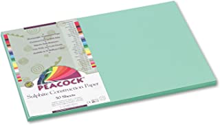 Peacock Sulphite Construction Paper, 76 lbs, 12 x 18, Light Grün, 50 Sheets Pk B001E6BWYC  Schön