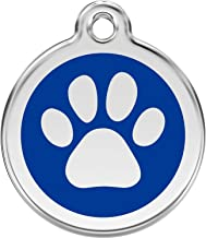 Red Dingo Personalized Paw Print Pet ID Dog Tag