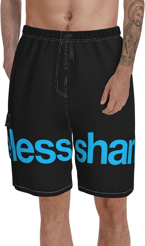 Anigarey Shameless Men's Swim Trunks Quick Dry Board Shorts Beach Holiday Bathing Suit Print Swimwear