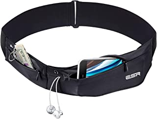 ESR Running Belt, Runners Waist Pack Adjustable Stretchy Zippered Fanny Pack with Headphone Port, Fits Most Phones, Money ...