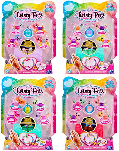 Twisty Petz 6044224 Babies 4-Pack, Collectible Fashion Bracelet Set for Kids, for Ages 4 and Up (Styles Vary), Mixed Colours, 4 Pack