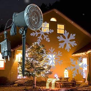 Snowflake Santa Lamp, Led Outdoor Waterproof Lawn Lamp, for Garden Party New Year Christmas,Whitesnowflake