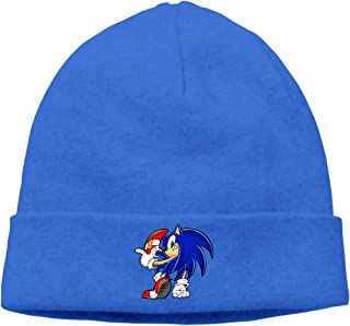 MUtang Sonic Hedgehog (3) Skull Hats Knitted Cap Beanie Black
