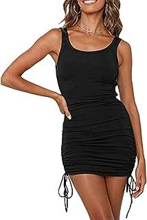 فستان نسائي صيفي من GEMEIQ مناسب للسهرات الليلية بدون أكمام مثير