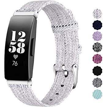 NANW Compatible with Fitbit Inspire HR/Inspire Bands Large Small, Woven Fabric Accessories Strap Wristband Women Men for Inspire & Inspire HR Smartwatch