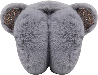 ZGMYC Foldable Fluffy Plush Warm Ear Muffs Thick Ear Warmers with Cute Sequins Ears for Women Girls