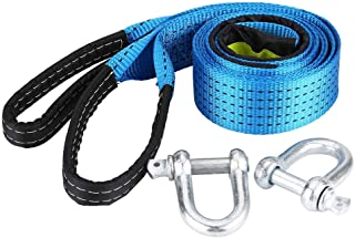 Towing Belt for Vehicles 11023lb 13.12ft with 2 Safty Hooks Anti-Proof Gloves /& Storage Bag STARPIA Car Tow Rope Heavy Duty Recovery Tow Straps 5 Tons 4 Meters