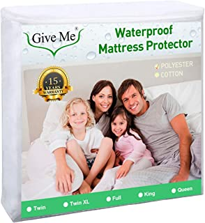 Give Me Premium Mattress Protector, 100% Waterproof Fitted Mattress Cover - Hypoallergenic, Vinyl Free (Twin Size)
