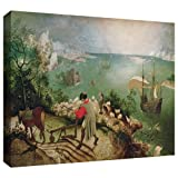 ArtWall Pieter Bruegel ' Landscape with the Fall of Icarus 'ギャラリーWrappedキャンバスアート、24by 36インチ