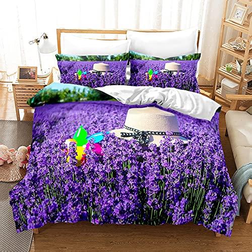 Floral Duvet Cubre tamaño de la Reina, Ropa de Cama Colorida, Hojas Verdes con Flores de jardín con patrón, agregue un Sentido de Elegancia y Lujo a su Dormitorio (Color : 8, Size : 200x200cm)