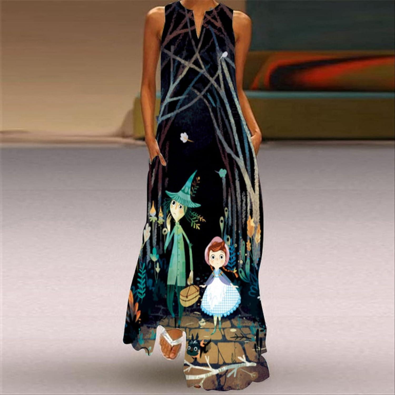 SOTUISA Summer Beach Women's Dress 2021 Elegant Robe Long Dress