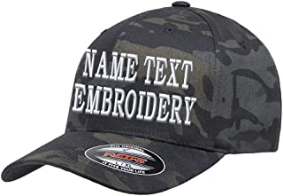 Custom Embroidery Hat Flexfit 6277 Personalized Text Embroidered Fitted Size Cap