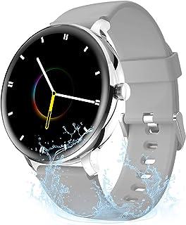 JessFash Reloj inteligente Actividad Rastreador ejercicios Cardio Salud Ejercicio Relojes Monitor de frecuencia cardíaca Podómetro impermeable Llamadas Bluetooth Deporte Reloj inteligente para Hombres