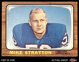 1966 Topps # 30 Mike Stratton Buffalo Bills (Football Card) Dean's Cards 4 - VG/EX Bills