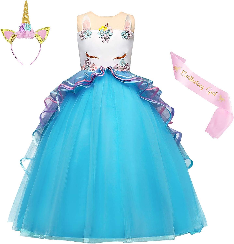 Jurebecia Unicorn Costume Dress Girls Even 買物 Party 発売モデル Dresses Pageant