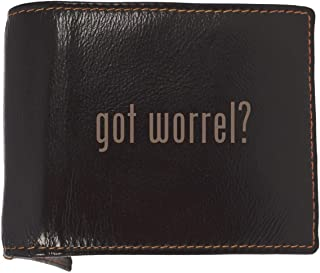 got worrel? - Soft Cowhide Genuine Engraved Bifold Leather Wallet