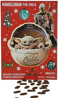 Mandalorian The Child Baby Yoda Milk Chocolate Candy Filled 2020 Christmas Advent Calendar, 13 3/4 Inch