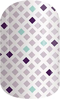 July Host Exclusive 2017 - Jamberry Nail Wraps - HR201707 - Full Sheet - Purple Geometric on White