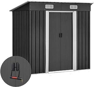 Giantz 1.94 x 1.21M Galvanized Steel Garden Storage Shed with a Bonus Lock