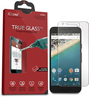 iCarez [Tempered Glass Screen Protector for LG Google Nexus 5X with Lifetime Replacement Warranty - Easy Install [1-Pack 9H 0.3MM 2.5D] Retail Packaging
