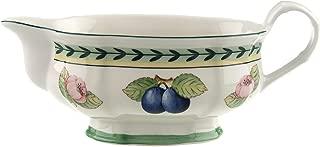 Villeroy & Boch 1022813407 French Garden Fleurence Gravy Boat, 10 oz, White/Multicolored