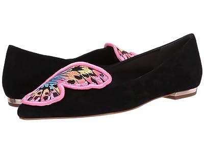 Sophia Webster Butterfly Embroidery Flat (Black/Multi) Women