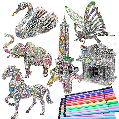 3D Coloring Puzzle Set from DDMY
