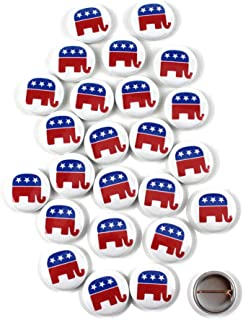 Republican symbol Pinback Buttons - 1 Inch Round - 25 Pack