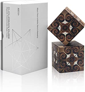 Euclidean Cube Fidget Block, Star Cube with 36 Pieces Magnets Built-in, 3D Cube Puzzle Toys Fidget for Adults and Kids(Pack of 2)