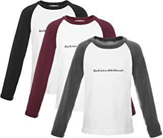 ReliBeauty Boys Letter Print Contrast Long Sleeve Tops