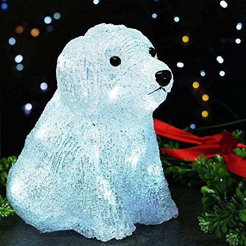 Bright Zeal LED Acrylic Puppy Dog Sculpture Light (8