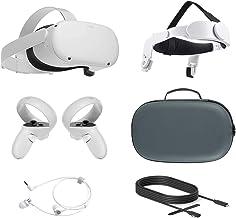 2021 Oculus Quest 2 All-In-One VR Headset, Controladores de toque, 256GB SSD, 1832x1920 até 90 Hz Taxa de Actualização LC...