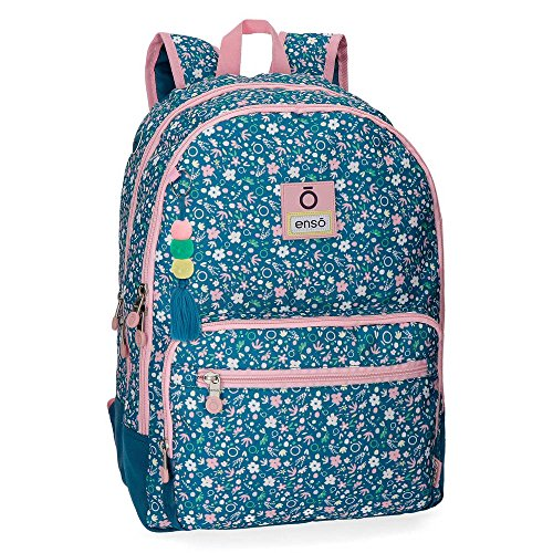Enso Blue Garden Mochila Doble Compartimento Adaptable a Carro Multicolor 32x44x22 cms Poliéster 30.98L
