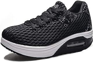 Kemos dames comfortabele sneakers, vrouwen outdoor licht ademende plateau vrijetijdsschoenen sportschoenen mesh loopschoen...