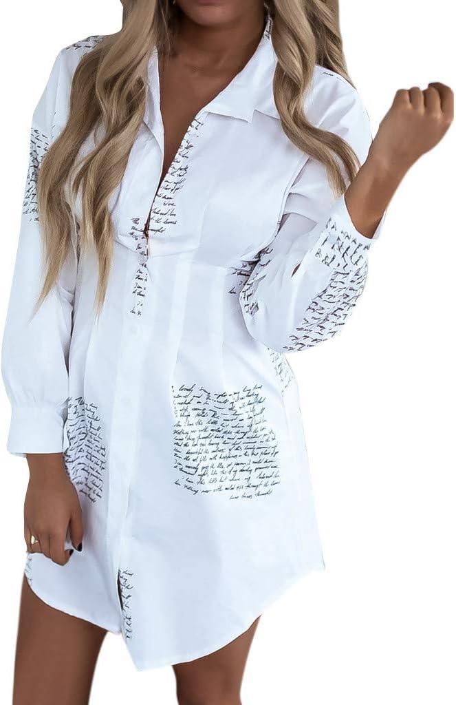 Kaifongfu Women Selling Button Down online shop Shirt Dress Plus Top Tunic Lett Size
