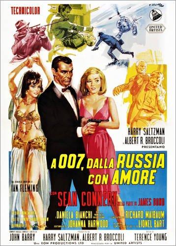Poster 70 x 90 cm: from Russia with Love (Desde RUSIA con Amor), Sean Connery di Everett Collection - Stampa Artistica Professionale, Nuovo Poster Artistico