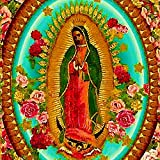 DIY 5D Diamond Paint by Number, Our Lady Guadalupe Mexican Saint Virgin Mary Full Drill Painting Arts Craft Canvas for Home Wall Decor Full Drill Cross 16X20 Inch