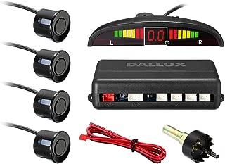 LED Display Parking Sensor,Car Reverse Backup Radar System,LED Display+Buzzer Alert+4 Black Color Parking sensors for Universal Auto Vehicle