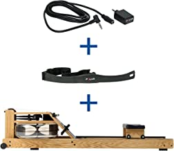 WaterRower Rudergerät Eiche S4 Monitor Herzfrequenzempfänger und Brustgu inkl