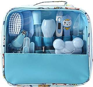 SOOBA Baby Grooming Kit Set 13 PCS Baby Healthcare and Grooming Kit Thermometer Feeder Nasal Aspirator Finger Toothbrush N...