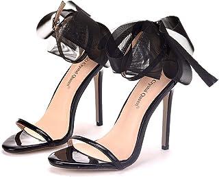 Women's Court Shoes,High Heels Bridal Shoes,11cm Temperament sexy bow Stiletto heels Wedding shoes Mary Jane Pumps,Clubbing Evening Wedding Party Dress Bridesmaid shoes,Black,36 EU