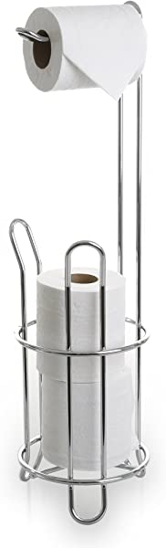 BINO The Classic Free Standing Toilet Paper Holder Chrome