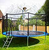 Neoformers Trampoline Sprinkler Water Park, Outdoor Water Game Sprinkler for Trampoline, Fun Summer Backyard Water Park Toy for Boys and Girls (39ft)
