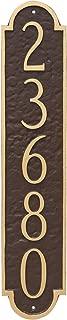 Montague Metal PCS-0128S1-W-BW Rockford Column Address Sign Plaque, 18.75