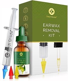 Medi Grade Spuiten - set met olijfolie spray en 3 x zachte quad-stream punten - herbruikbare oorsmeer remover - oor reinig...