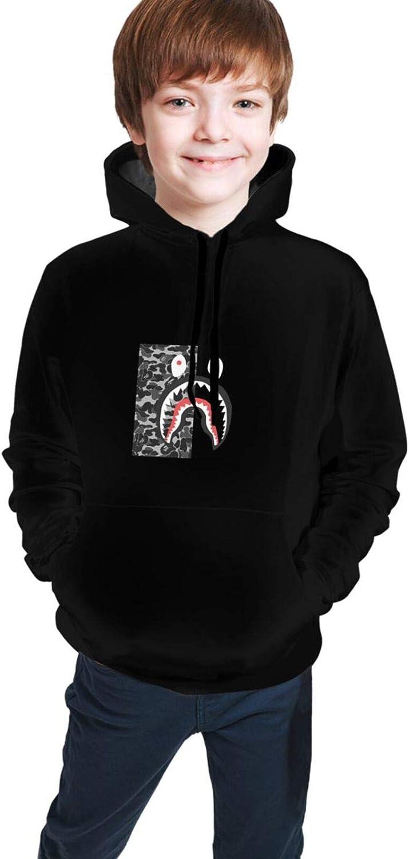 Bape Blood Shark Boys Girls Teens 3D Hoodie Sweatshirt Casual Hoodie