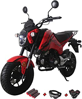 X-Pro 125cc Motorcycle Bike Dirt Bike 125cc Gas Motorcycle Bike Street Bike Adults Dirt Bike Dirtbike with Gloves, Goggle and Handgrip