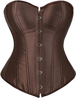 estilo vintage EZSTAX S para mujer Y rojo Cors/é de encaje para el vientre corpi/ño